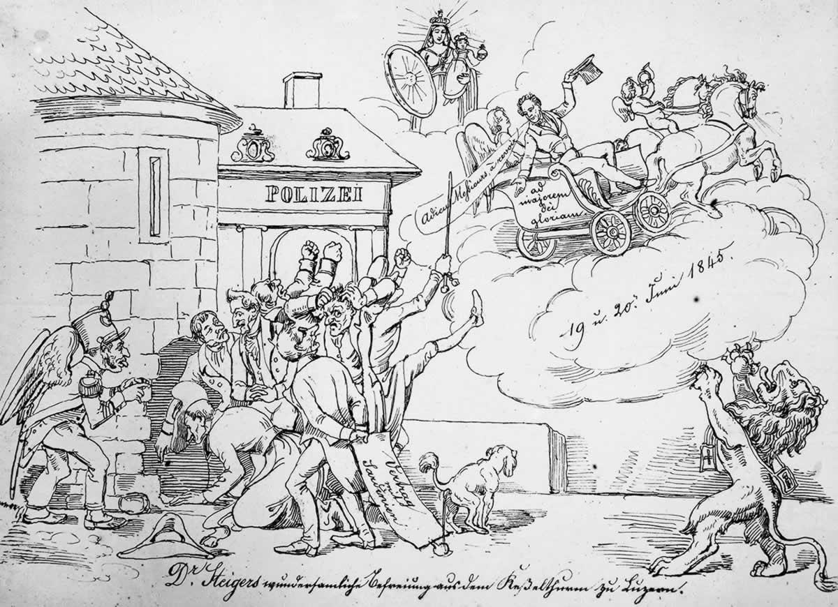 Steigers Flucht 1845 aus dem Kesselturm in der Stadt Luzern