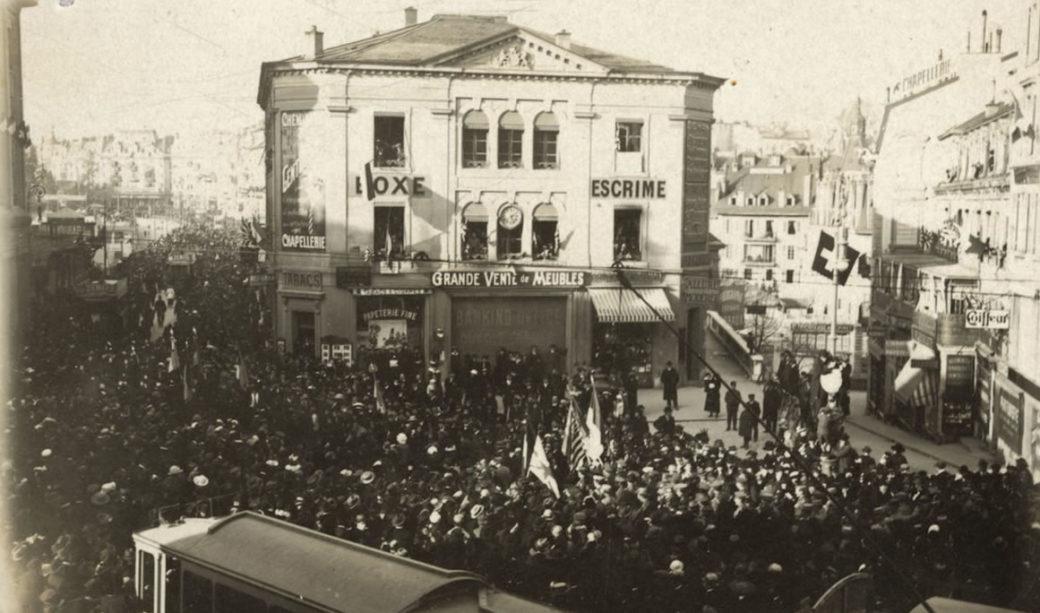 lausanne-place-saint-francois-fete-fin-guerre-1918-1